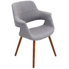 Vintage Flair Mid-Century Modern Fabric Accent Chair - Light Grey