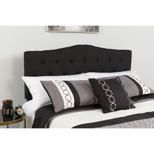 Our Cambridge Tufted Upholstered Full Size Headboard in Black Fabric is on sale now.