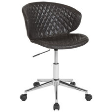 Cambridge Home and Office Upholstered Mid-Back Chair in Gray Vinyl