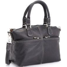Weekender Duffel Bag - Genuine Colombian Leather - Black