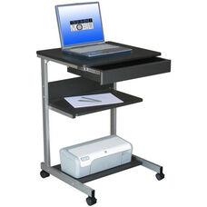 Techni Mobili Rolling Laptop Desk with Storage - Graphite