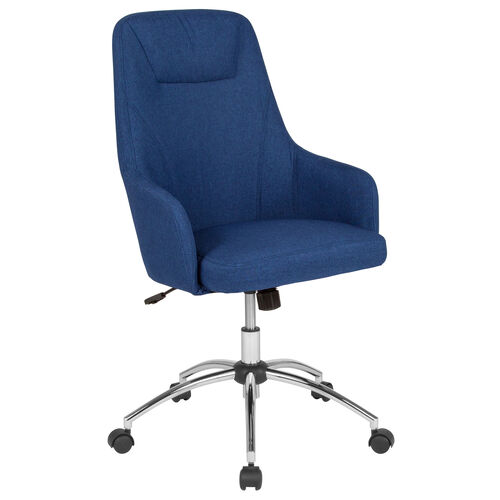 Our Rennes Home and Office Upholstered High Back Chair in Blue Fabric is on sale now.