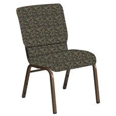 18.5''W Church Chair in Watercolor Seurat Fabric - Gold Vein Frame