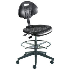 Quick Ship UniqueU Series Chair with Waterfall Front Seat and Reinforced Composite Base - Medium Seat Height