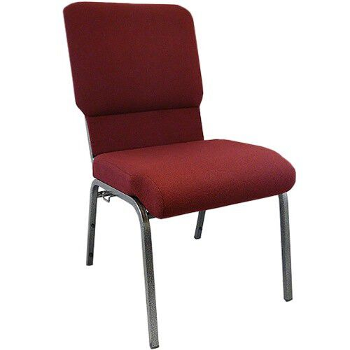 Advantage Maroon Church Chairs 18.5 in. Wide