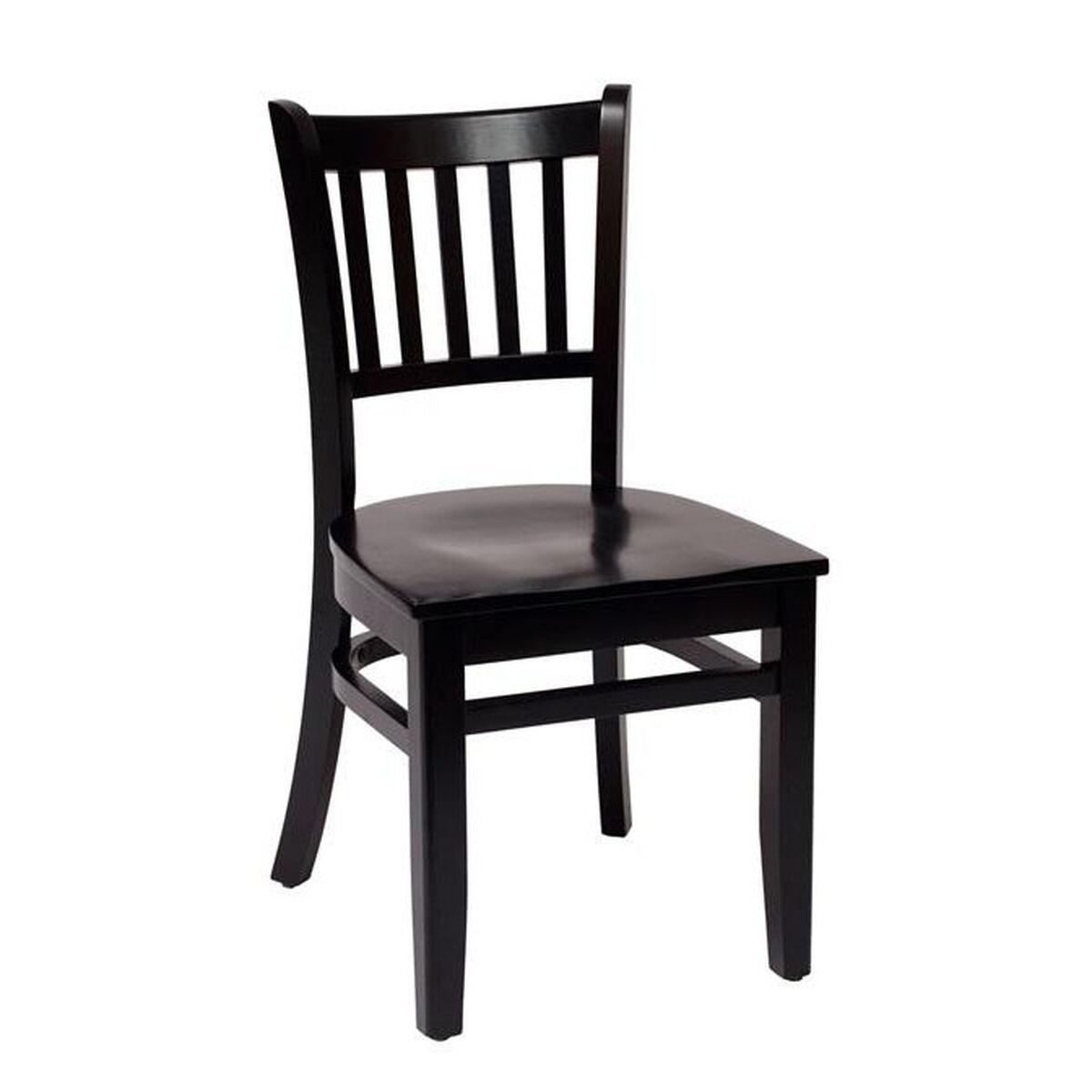 Delran Wood Slat Back Chair Lwc102blblw Bizchair Com