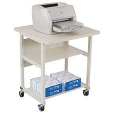 BALT® Heavy-Duty Mobile Laser Printer Stand - Three-Shelf - 27w x 25d x 27-1/2h - Gray