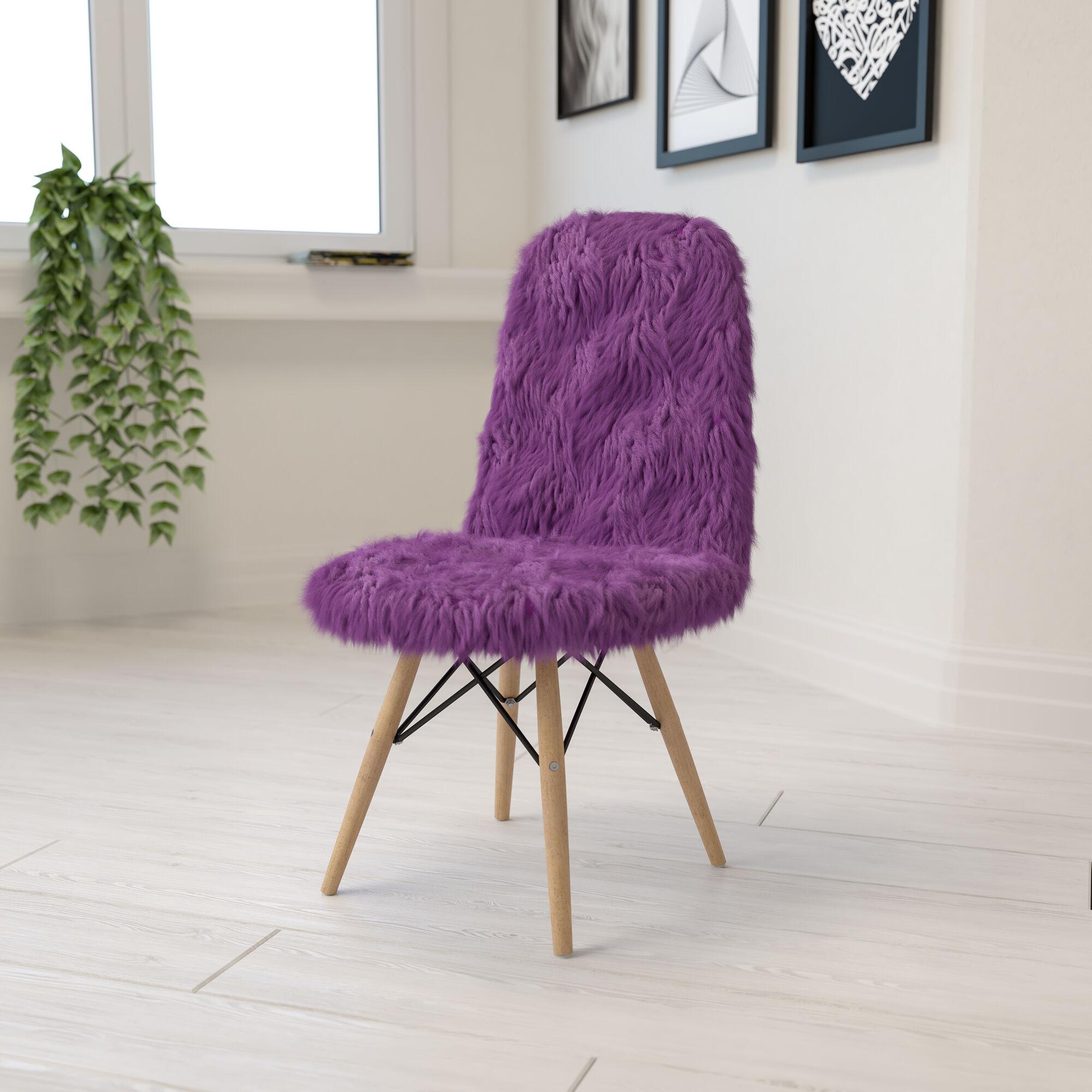 Purple Shaggy Chair Dl 15 Gg Bizchair Com