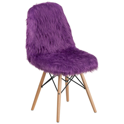 Our Shaggy Dog Purple Accent Chair is on sale now.