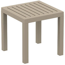 Ocean Outdoor Resin Square Side Table - Dove Gray