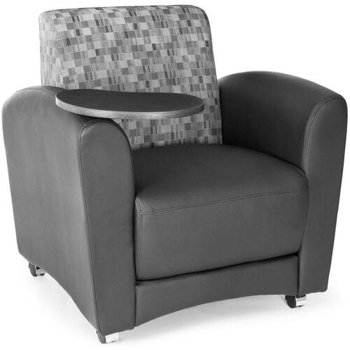 Our InterPlay Nickel and Black Tablet Chair - Tungsten Finish is on sale now.