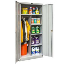 800 Series Antimicrobial One Wide Single Tier Double Door Combination Cabinet - Assembled - Platinum - 36