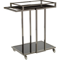 OSP Designs Angela Serving Cart - Black Nickel