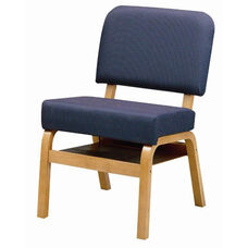 3846 Fellowship Chair with Book Shelf, Upholstered Back & Seat - Grade 1