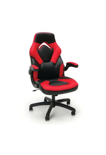 Our Essentials Racing Style Leather Gaming Chair - Red is on sale now.