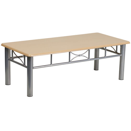 Our Natural Laminate Coffee Table with Silver Steel Frame is on sale now.