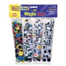 Chenille Kraft Company Wiggle Eyes - 500/PK - Assorted Colors/Sizes