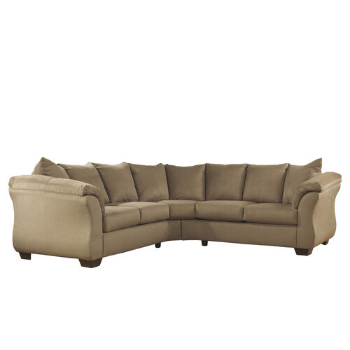 Our Signature Design by Ashley Darcy Sectional in Mocha Microfiber is on sale now.