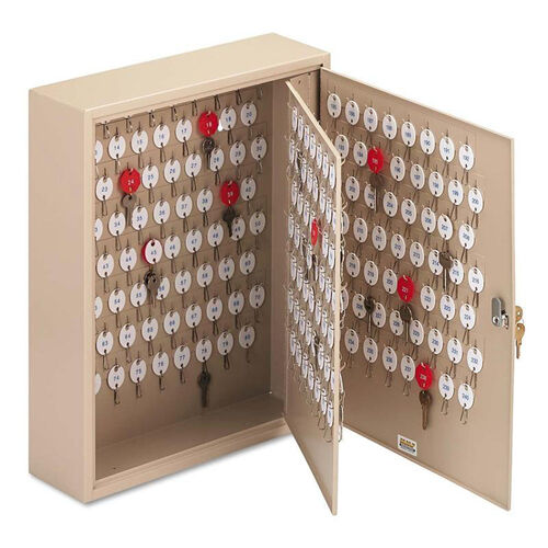 Our SteelMaster® Locking Two-Tag Cabinet - 240-Key - Welded Steel - Sand - 16 1/2 x 4 7/8 x 20 1/8 is on sale now.