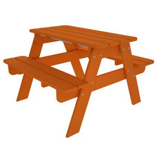 POLYWOOD® Kids Collection Picnic Table - Vibrant Tangerine