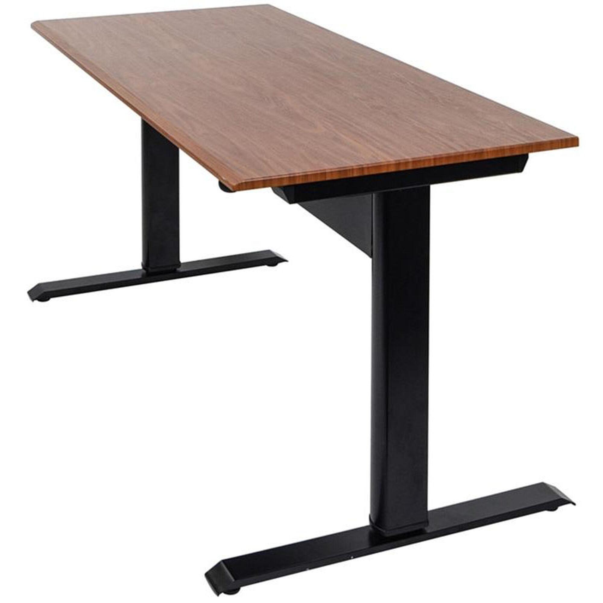 Pneumatic Teak Standing Desk Spn48f Bk Tk Bizchair Com