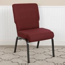 Advantage 20.5 in. Maroon Molded Foam Church Chair