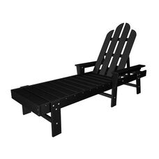 POLYWOOD® Long Island Collection Chaise Lounge - Black