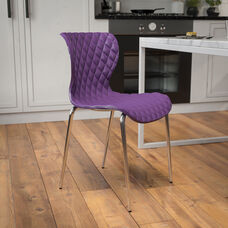 Lowell Contemporary Design Purple Plastic Stack Chair