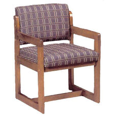 3636 Reception Chair w/ Upholstered Back & Seat - Grade 1