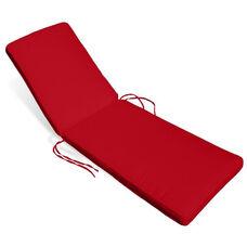 Miami Chaise Lounge Cushion -Logo Red