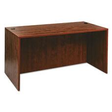 Alera® Valencia Series Straight Front Desk Shell - 59 1/8 x 29 1/2 x 29 1/2 - Med Cherry
