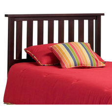 Belmont Traditional Slated Wood Headboard - Full or Queen - Merlot
