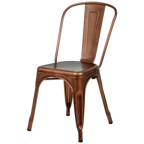 Our Oscar Steel Powder Coated Stackable Armless Chair - Brushed Rose Gold is on sale now.