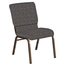 18.5''W Church Chair in Circuit Maple Fabric - Gold Vein Frame