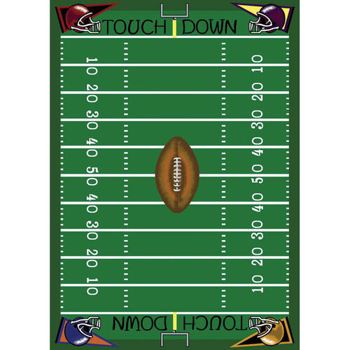 Our Football Fun Rug is on sale now.