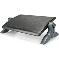 Ergo Deluxe Footrest with Rubber Padding - Black