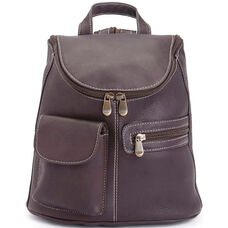 Tablet iPad Backpack - Genuine Colombian Leather - Cafe