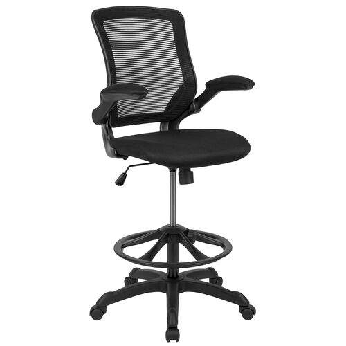 Our Mid-Back Mesh Ergonomic Drafting Chair with Adjustable Foot Ring and Flip-Up Arms is on sale now.