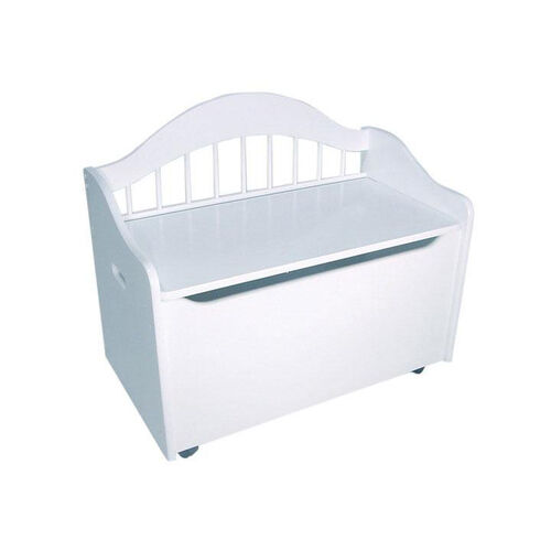 Limited Edition Childs Toy Box with Bench Seat and Flip-Top Lid - White