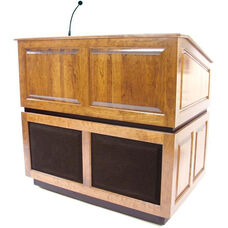 Ambassador Wired 150 Watt Sound Multimedia Lectern - Maple Finish - 30