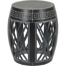 OSP Designs Drum Accent Table - Antique Black