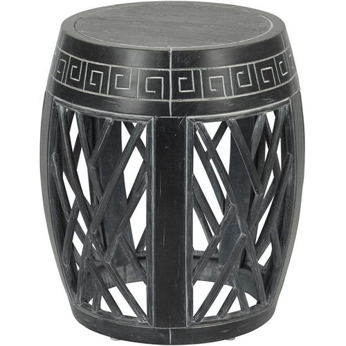 Our OSP Designs Drum Accent Table - Antique Black is on sale now.