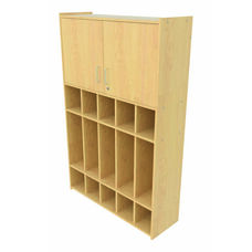 2000 Series Preschool 5 Student Compartment Lockers with Locking Storage Cabinet
