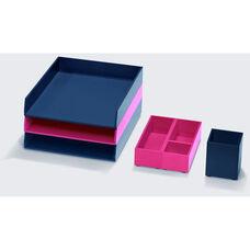 Bright Desk Organizing System Essential Storage Multi-Set - Black and Navy