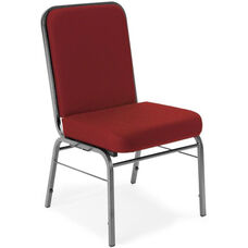 Comfort Class 300 lb. Capacity Stack Chair - Wine Fabric