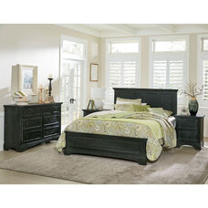 Inspired By Bassett Farmhouse Basics Queen Bedroom Set with 2 Nightstands, and 1 Dresser