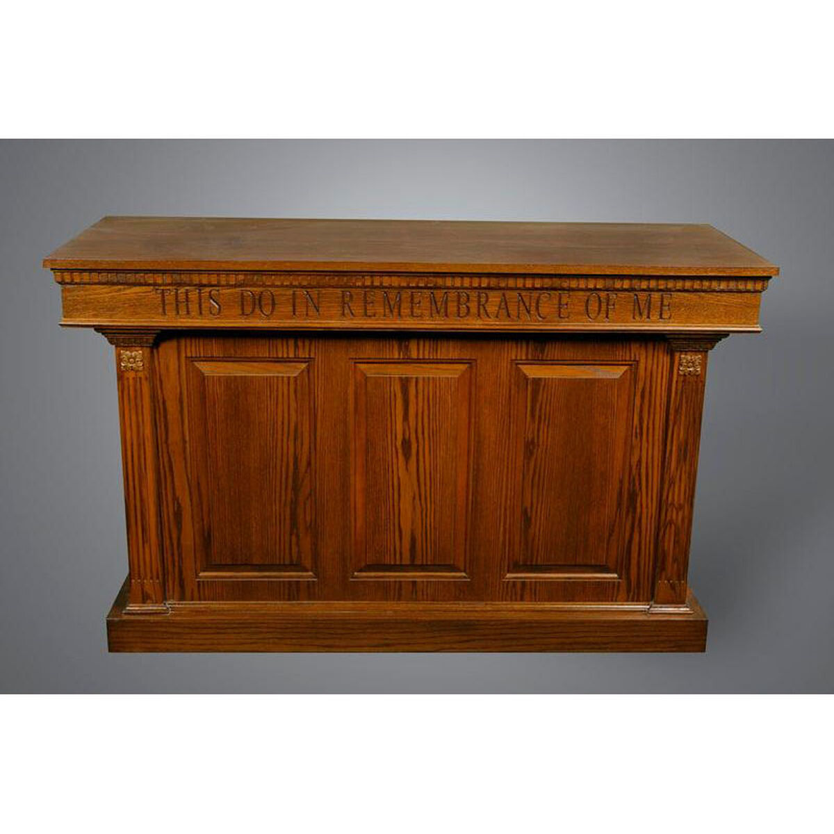 red oak closed communion table 8201ct | bizchair