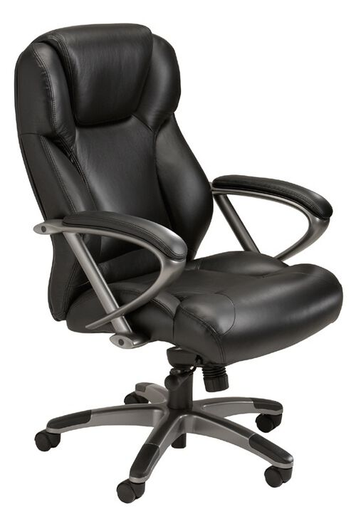 Our Ultimo 300 Series High Back Task Chair - Black Leather with Slate Frame is on sale now.