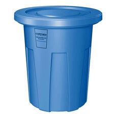 35 Gallon Cobra Food Grade/General Use Trash Can - Blue