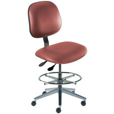 Quick Ship Belize Series Chair with Concave Seat and Wide Aluminum Base - Medium Seat Height